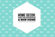 Home Decor: New Home Decorating Ideas / Decorating ideas for a new home.
