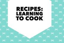 Recipes: Learn to cook / Teaching myself to cook.