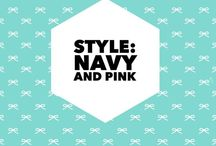 Style: Navy + Pink Are My Favorites Color Scheme / Themes and Ideas that inspire me, everyday. Flowers, Clothing. Images. Quotes. People. Stuff.