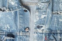 Indigo + Workwear + Denim / Bleu de travail, indigo, denim, vêtement de travail, usure, rapiècement, moleskin, workwear, détail...