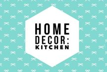 Home Decor: Kitchen / Home decor, home improvement ideas for updating or renovating a kitchen.