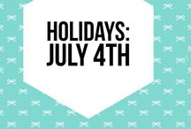 Holidays: July 4th Party / Ideas, crafts, DIY and party planning ideas for your July 4th and Memorial Day Parties
