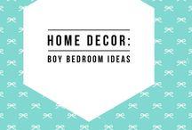 Home Decor: Ideas for a boy bedroom / Boy bedroom