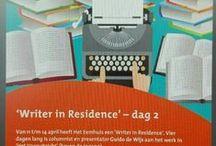 Writer in Residence Eemhuis / In Het Vooruitzicht van de de bibliotheek in Het Eemhuis is in 2016 Guido de Wijs de eerste Writer in Residence. Daar ontvangt hij zijn gasten (schrijvers, dichters, journalisten, muzikanten etc) om met hen te praten over schrijven, elkaar versterken en wat er zoal nog meer aan gesprekstof (en op het Eemplein) voorbij komt