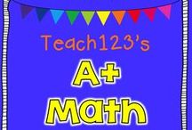 A+ MATH for teachers / Centers, lessons, and resources  for K-3 teachers. / by Teach123