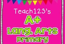 A+ LANGUAGE ARTS - Primary / Centers, lessons, and resources  for K-2 teachers. / by Teach123