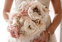 Bouquet Inspirations <3 / Vintage, Shabby Chic, Lace, Lavender, Purple, fabric, satin, silk, wedding, bridal, bouquet. / by Dani H
