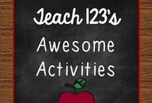 A+ AWESOME ACTIVITIES for Teachers / Centers, games, lessons, blog posts with tips for K-3 teachers. / by Teach123