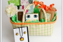 Unique gift baskets / This is a collection of our unique gift baskets and favorite products we use to create them. / by Mary at Thoughtful Presence