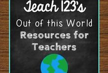 A+ OUT OF THIS WORLD Resources for Teachers / Centers, games, lessons, blog posts with tips for K-3 teachers. / by Teach123