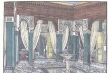 Watercolours of the Royal Mansour / A beautiful collection of watercolour prints of the Royal Mansour, Marrakech, Morocco. A leading hotel of the world.
