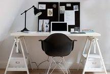 ♥ HOME OFFICE / Home office spaces. Ideas, organization, decor, design, diy.
