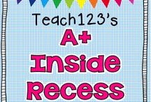 A+ RECESS / Videos, activities, and management ideas for inside recess. / by Teach123