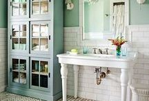 Bathrooms - everyone has at least one! / Water closet decor / by Katie Wyatt