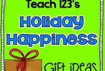 Holiday Happiness:  Gift Ideas / Fun ideas to give your child's teacher, volunteers,co-workers, or students during the different holidays of the school year. / by Teach123