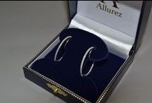 Diamond Hoop Earrings / Shimmer and sparkle in elegance with diamond hoop earrings from Allurez Jewelers. Diamond hoops come with princess cut and round cut diamonds in 14kt and 18kt White, Yellow, and Rose Gold as well as .925 Sterling Silver. Buy online at www.Allurez.com. / by Allurez