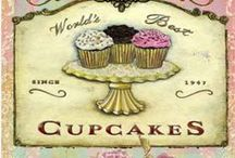 Cupcakes / A small cake baked in a cup-shaped container. / by Judith Fisher