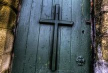 """Doors,  What's The Story Behind Them ??  / """"Ask and it will be given to you; seek and you will find; knock and the door will be opened to you.   Matthew 7:7 / by Judith Fisher"""