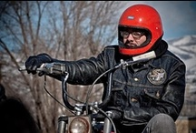 Biker's Gear / Leather and cordura motorcycle jackets, pants and chaps,  Jeans, saddle bags, boots, gloves, helmet and accessories for men and women All Bikers. / by Tatsu Higa