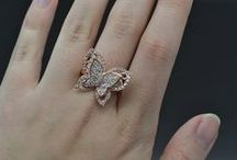 Butterfly Engagement Ring / Welcome to our collection of Butterfly Engagement Rings. Select from a variety of styles including double halo, vintage, and more. / by Allurez