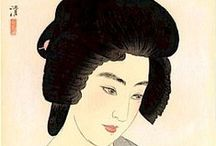 Geisha 芸者, Maiko 舞妓 & Oiran (花魁) / Geisha (芸者?), geiko (芸子) or geigi (芸妓) are traditional Japanese female entertainers who act as hostesses and whose skills include performing various Japanese arts such as classical music, dance and games.  MAIKO -- Apprentice geisha. OIRAN -- The Highest Order of Japanese Prostitute  / by Judith Fisher