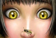 """Bees  / """"Don't wear perfume in the garden - unless you want to be pollinated by bees.""""    Anne Raver     / by Judith Fisher"""