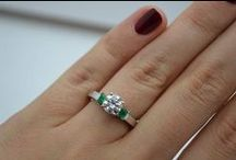 Emerald Engagement Rings / Emerald is a symbol of luxury, elegance and wealth. Propose your beloved with this emerald engagement ring and let her feel the importance of her in your life and feel the her joy and pride on her face. / by Allurez