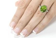 Peridot Engagement Rings / Peridot Engagement Rings are elegant and impressive.  Peridot is supposed to bring success, peace, and good luck in your upcoming life. If you are planning to propose her than Peridot is one of the best option. It will give her special feeling and she will felt so happy when you gave her this on her engagement day. So convey your feelings to her and make her feel special on her special day. / by Allurez