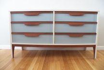 FOLKLOVE FURNITURE MAKEOVERS / Mid century modern refinished furniture. Painted and reloved www.facebook.com/folklovin