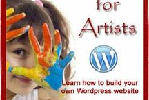 Wordpress for Artists / Learn how to setup and install your own Wordpress website - for free! www.Wordpress-for-Artists.com / by Creative Cloth | Linda Matthews