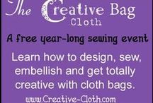 The Creative Cloth Bag / The Creative Cloth Bag is a free year-long sew-along event for people who love to make bags and purses.  More at http://www.creative-cloth.com/the-creative-cloth-bag/ / by Creative Cloth | Linda Matthews
