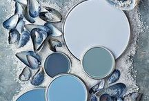 Sea Blues / Classic shades of blues to decorate a beach home! P.S. There's more than one shade of blue to start with -