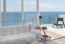 Coastal Goes Mod / One of my favorite looks - modern, sleek, a touch of luxury and still so coastal.   One day maybe I will be brave enough to pull this look off!  / by Caron's Beach House