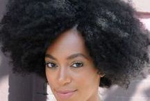 Natural Hair - Celebrity Style / Our favorite celebrities rocking a natural hair style. Curly, wavy, coily, or anything in between!
