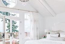Coastal Whites / A classic, casual look for decorating a beach home! Think slip covered furniture, soft white pillows and more -