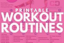 Workout Routines - Printables / Print and Do the workout much EASIER! Just follow the steps. Pick a couple and create your own workout! PIN these if you think it will help your followers. Click on the Picture to watch the video of the moves.