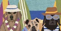 Beach Puppy Dogs / Fun images and coastal home decor products featuring our best buddies at the beach!