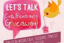#CurlTalk / Want to hear what other natural curly friends think or know, join in the chat and learn what is going on in the natural curl community.