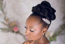 Natural Wedding Hair / Wedding and bridal styles for natural curly hair.