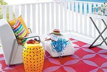 Seaside Boho Style / Drenched with color, and pattern - ideas to create the perfect seaside boho bungalow!