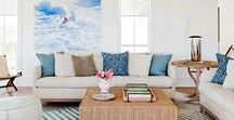 Living Rooms by the Sea / By the beach, bay, or the ocean - our collection of inspired living room ideas!