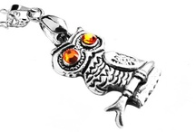 Xiao Twins - OWL HOoT HoOT / Silver Owl Charms accent with Swarovski Rhinestone Crystals.