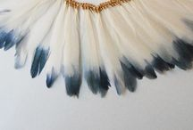 Feathers & Wood / Feathery wooden beautiful creations.