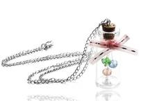 "Xiao Twins - Bottle Necklaces / Make a Wish Nature Glass Bottle Vial Pendant Necklace, ""Love Potion"" Bottle Necklace..."