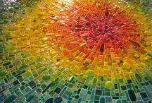 Mosaics, traditional and contemporary / Examples of mosaic technique using traditional and non traditional materials.