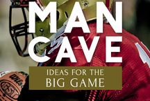 Man Cave / All the essential tips and furniture to make your Man Cave the perfect getaway for you and your friends!