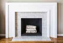 Around the Fireplace / Tile Stone Brick Etc / by Beth Lewis