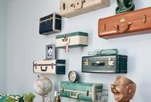 My Kind of Home: Vintage Travel / Inspiration for home decorating with a vintage/travel style as shared by A Pink Sunset.
