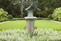 GARDENS / Garden design, white gardens, garden vessels, espalier, fountains, hardscapes, landscape design / by Julia Brennan
