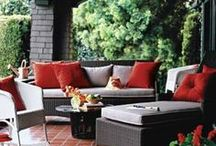 Elegant Outdoor Furnishings and Home Decor / Elegant outdoor furnishings for the front porch or the backyard deck or patio.